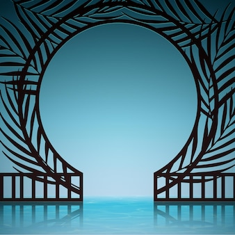 Realistische abstrakte komposition mit exotischem tor