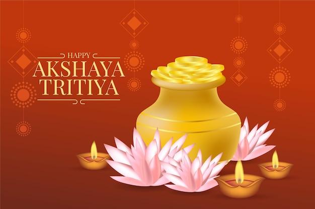 Realistische akshaya tritiya illustration