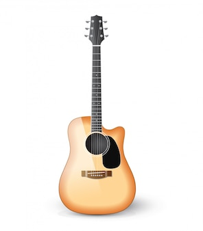 Realistische akustikgitarre