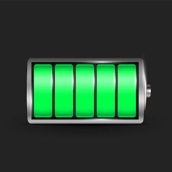 Realistische alkali-batterie.