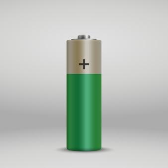 Realistische alkaline-batterie.