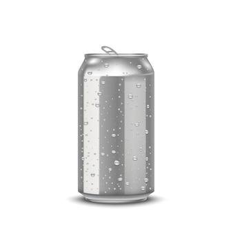 Realistische aluminiumdosen