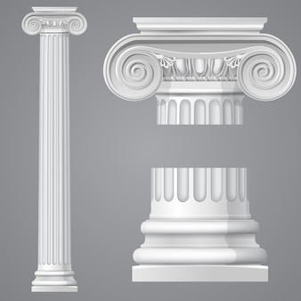 Realistische antike ionenspalte lokalisiert