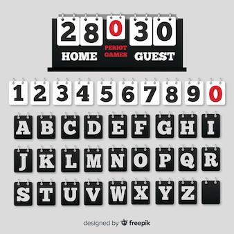 Realistische anzeiger alphabet