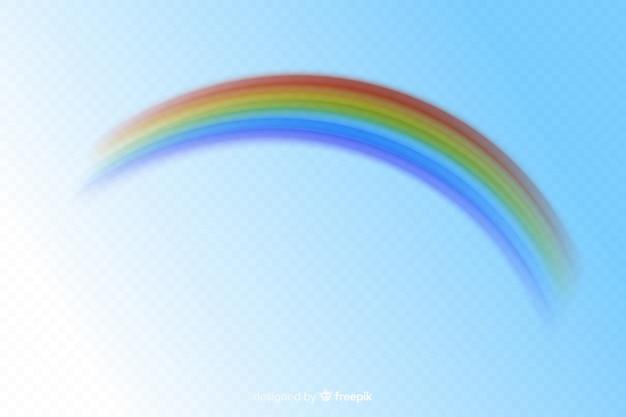 Realistische art des bunten dekorativen regenbogens