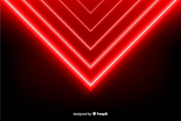 Realistische art des geometrischen hintergrundes der roten lichter