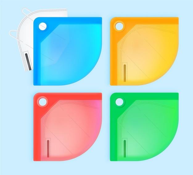 Realistische aufbewahrungsbox für gesichtsmasken