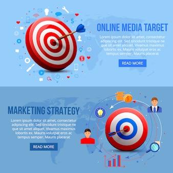 Realistische ausrichtung auf marketing-banner