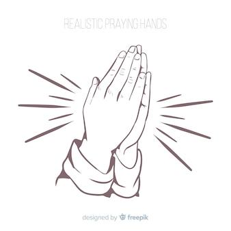 Realistische betende hände