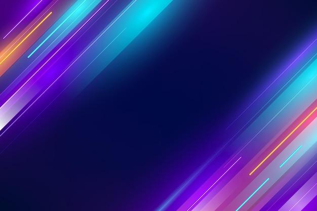 Realistische bewegung neonlichter hintergrund