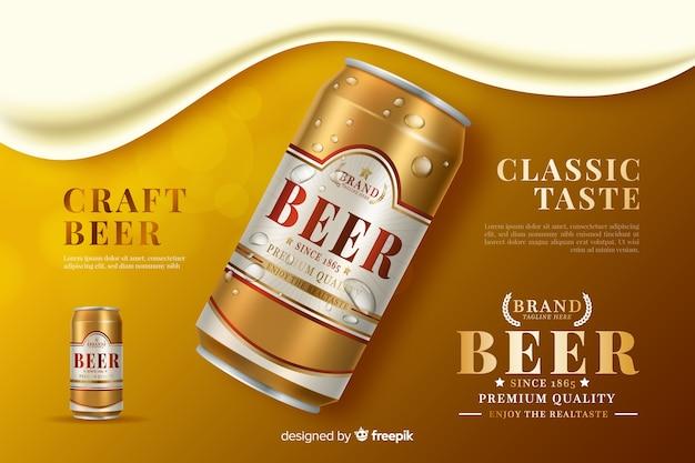 Realistische bier hintergrund