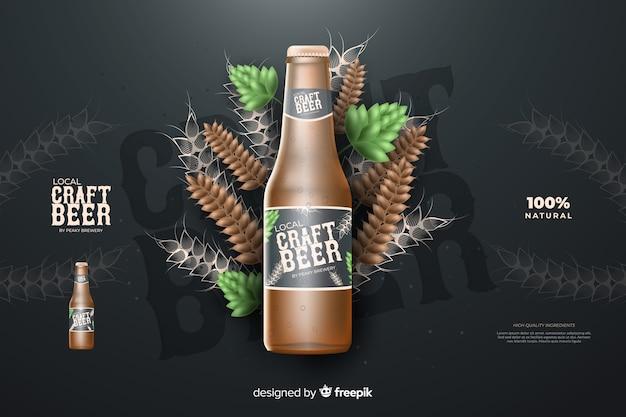 Realistische bierwerbung