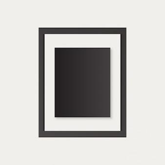 Realistische bilderrahmen isoliert auf weißen hintergrund