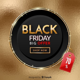Realistische black friday promotion