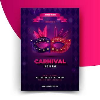 Realistische brasilianische karnevalsfliegerschablone