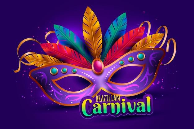 Realistische brasilianische karnevalsillustration