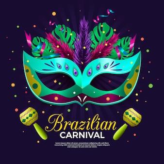 Realistische brasilianische karnevalsschablone