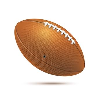 Realistische braune rugbyball-team-sportspielausrüstung