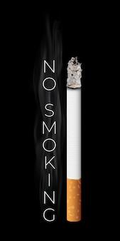 Realistische brennende zigarette.