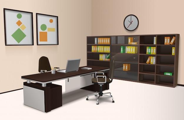 Realistische büroeinrichtung
