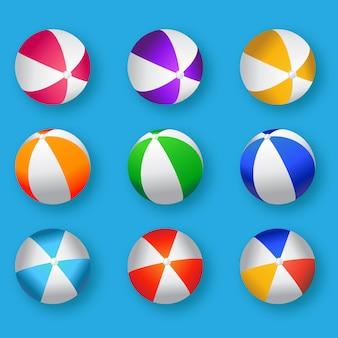 Realistische bunte wasserball-illustration.