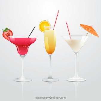 Realistische cocktailkollektion