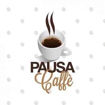 Realistische coffee-shop logo
