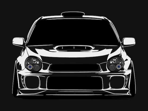 Realistische coole auto silhouette