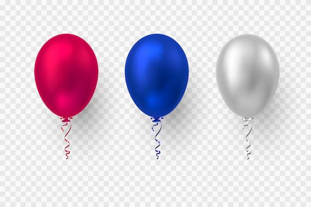 Realistische d glänzende ballons