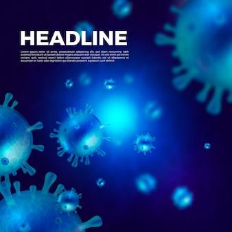 Realistische darstellung des coronavirus-konzepts