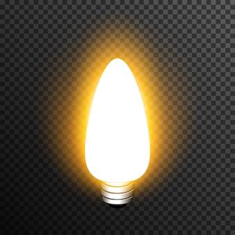 Realistische dekoration der glühlampe