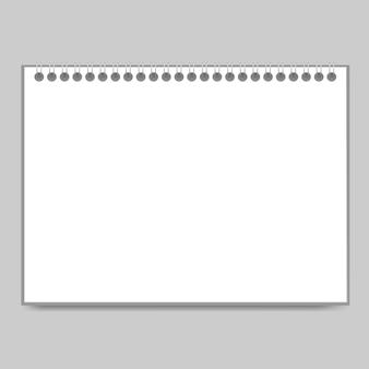Realistische detaillierte 3d-notizblock und eisen verdrahtete spirale oder organizer, tagebuch, dokument. illustration