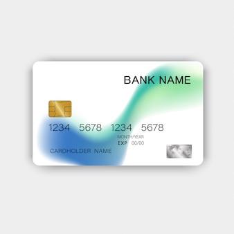 Realistische detaillierte kreditkarte
