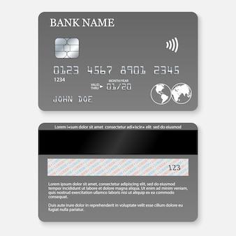 Realistische detaillierte kreditkarte.