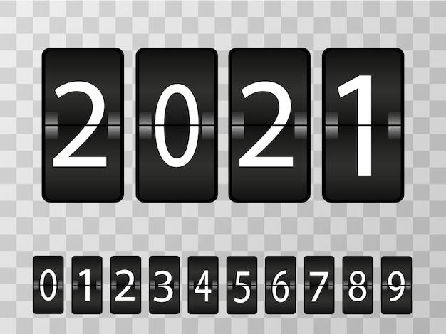 Realistische digitale anzeigetafel. nummern ersetzen