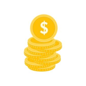 Realistische dollar-münze