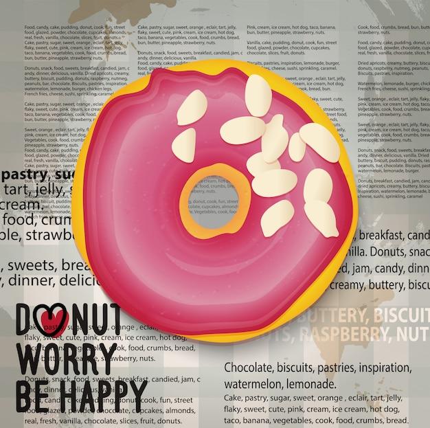 Realistische donut-symbol.