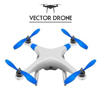 Realistische drohne, quadrocopter uav.