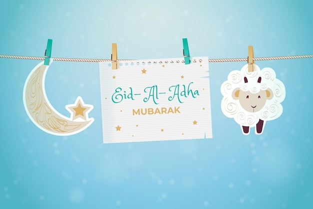 Realistische eid al-adha illustration