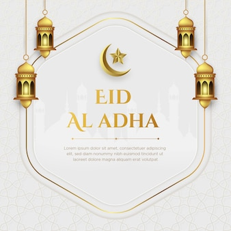 Realistische eid al-adha mubarak-illustration