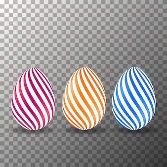 Realistische eier auf dem transparenten hintergrund vektor.