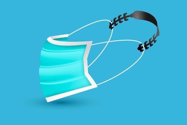 Realistische einstellbare gesichtsmaskengurtillustration
