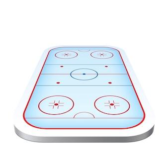 Realistische eishockeyspielplatzarenaikone