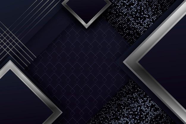 Realistische elegante geometrische formen bildschirmschoner