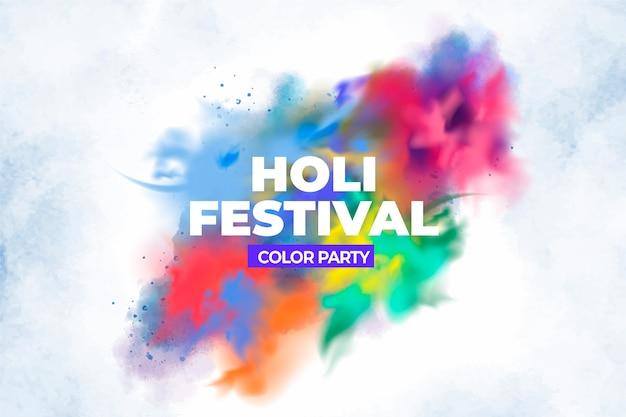 Realistische explosion hindu holi festival