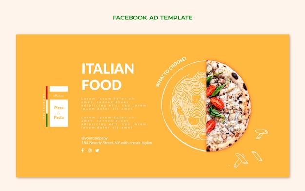 Realistische facebook-werbung für lebensmittel