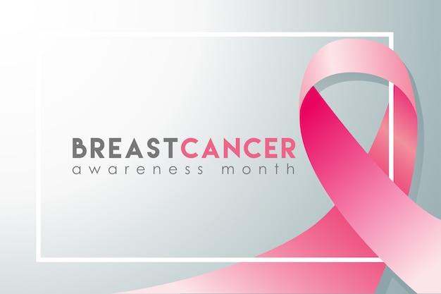 Realistische fahne des brustkrebs-bewusstseinsmonats