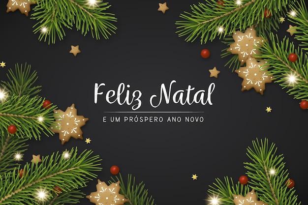 Realistische feliz natal