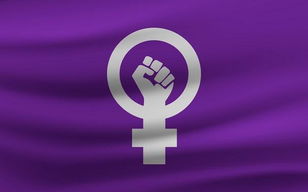 Realistische feministische flagge