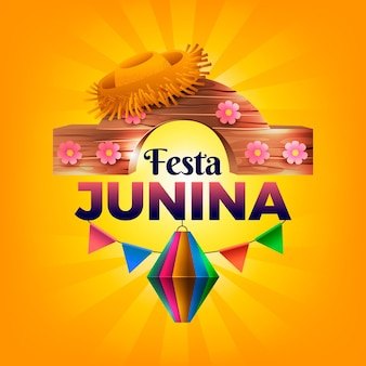 Realistische festa junina illustration